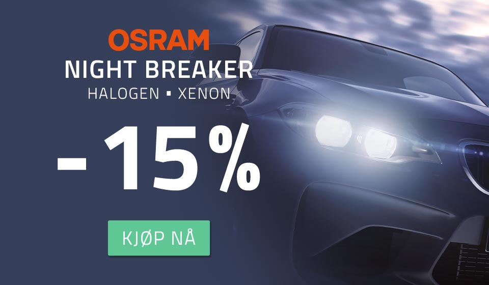 15% rabatt på Osram Night Breaker