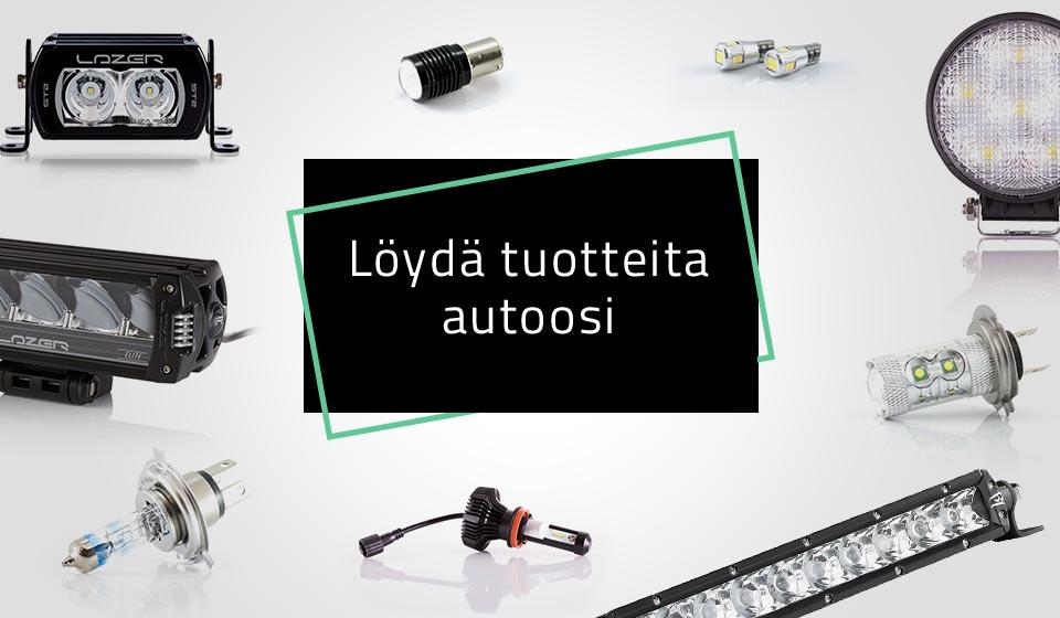 Löydä autoosi lisävalot, polttimot ja muut valot